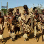 Zulu Worriers at Shakaland, Kwa Zulu Natal, South Africa