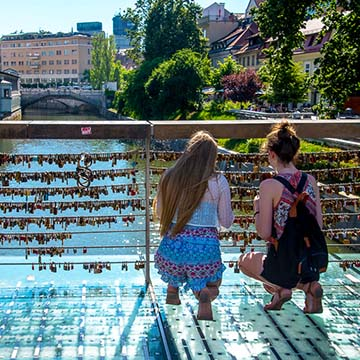 Mesarski Most (Butchers Bridge), Ljubljana City, Slovenia.